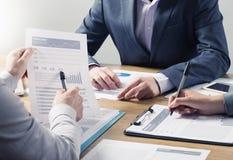 金融服务专家队 免版税图库摄影
