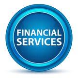 金融服务打量蓝色圆的按钮 向量例证