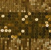 金衣服饰物之小金属片背景 图库摄影