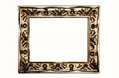 金被雕刻的框架葡萄酒 库存照片