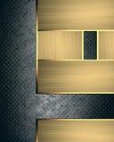 金设计的标识牌元素 设计的模板 复制广告小册子或公告邀请的,抽象背景空间 免版税库存照片