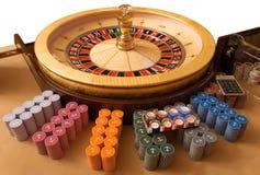 金轮盘赌的赌轮 免版税库存图片