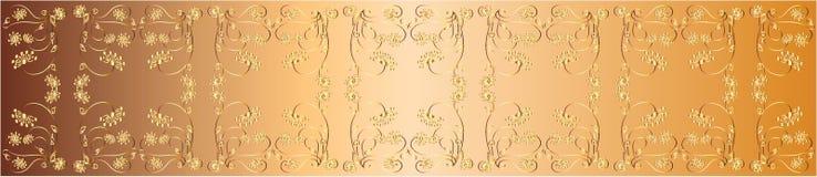 金透雕细工丝带 传染媒介设计例证 免版税图库摄影