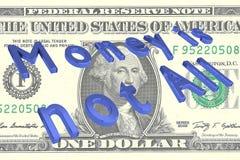 金钱不是所有概念 库存图片