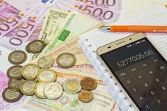 金钱世界 免版税库存图片
