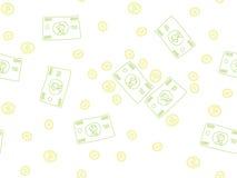 金钱乱画样式 免版税库存照片