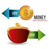 金钱和业务设计 免版税库存照片