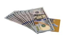 金钱和卡片 免版税库存图片