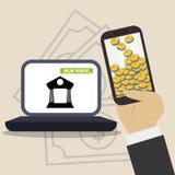 金钱和投资 免版税图库摄影