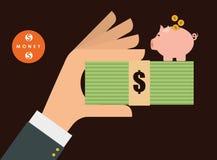 金钱和投资 图库摄影