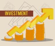 金钱和投资 库存图片