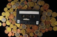 金钱和音乐概念 库存图片