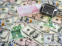 金钱和音乐概念 库存照片