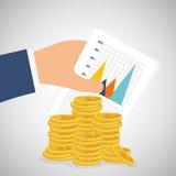 金钱和统计 库存图片