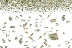 金钱在天空中。 免版税库存图片