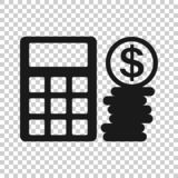 金钱在透明样式的演算象 开户传染媒介例证的预算在被隔绝的背景 财政付款事务 向量例证
