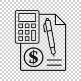 金钱在透明样式的演算象 开户传染媒介例证的预算在被隔绝的背景 财政付款事务 皇族释放例证