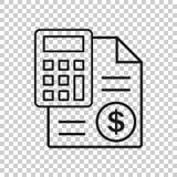 金钱在透明样式的演算象 开户传染媒介例证的预算在被隔绝的背景 财政付款事务 库存例证