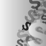 金钱在银的美元象 免版税库存图片