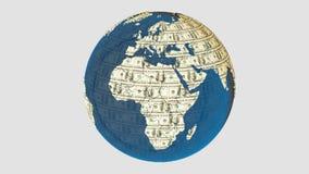 金钱地球 库存照片