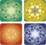 金钱坛场 四个图象用不同的颜色选择 免版税库存图片