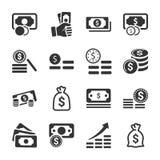 金钱堆积Icons_灰色版本 向量例证