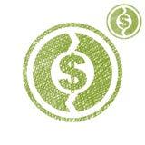 金钱循环交换经济简单概念的传染媒介选拔 免版税库存图片