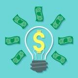 金钱想法概念 库存图片