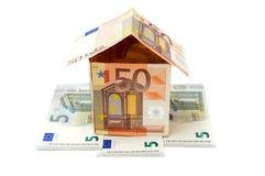 金钱房子 免版税库存照片