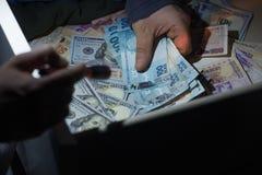 金钱抢劫和偷窃的概念  免版税图库摄影