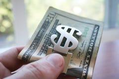 金钱接近优质 图库摄影