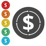 金钱改变信仰者象 向量例证