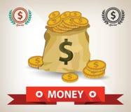 金钱标志,传染媒介设计 图库摄影