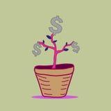 金钱树传染媒介设计 免版税库存图片