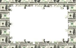 金钱框架 库存照片