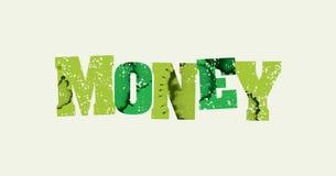 金钱概念被盖印的词艺术例证 免版税库存图片