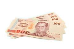 金钱泰国100泰铢 库存图片