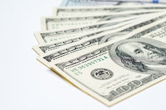 金钱现金爱好者, $100张票据 免版税库存图片