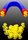 金钱的一块磁铁 免版税库存照片