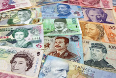 金钱的各种各样的面孔 图库摄影