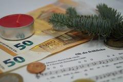 金钱的圣诞节13 Th薪金 库存图片