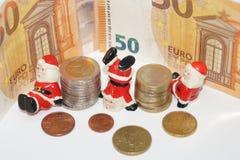 金钱的圣诞节13 Th薪金 图库摄影