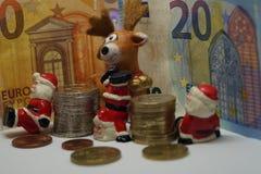金钱的圣诞节13 Th薪金 库存照片