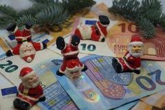 金钱的圣诞节13 Th薪金 免版税图库摄影