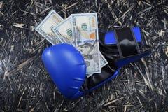 金钱的拳击,金钱的,装箱的美元体育战斗 库存图片
