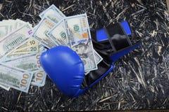 金钱的拳击,金钱的,装箱的美元体育战斗 库存照片