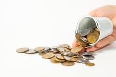 金钱硬币片断现金货币乌克兰 免版税库存图片