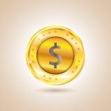 金钱美元硬币 也corel凹道例证向量 免版税图库摄影