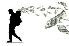 金钱背包徒步旅行者 皇族释放例证