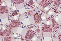 金钱背景-五百张欧洲票据钞票 图库摄影